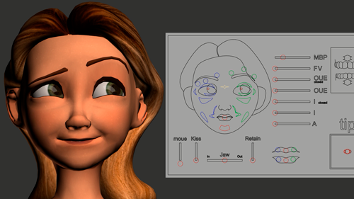 animation girl face