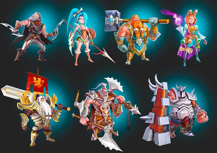 Hexagonium character concepts