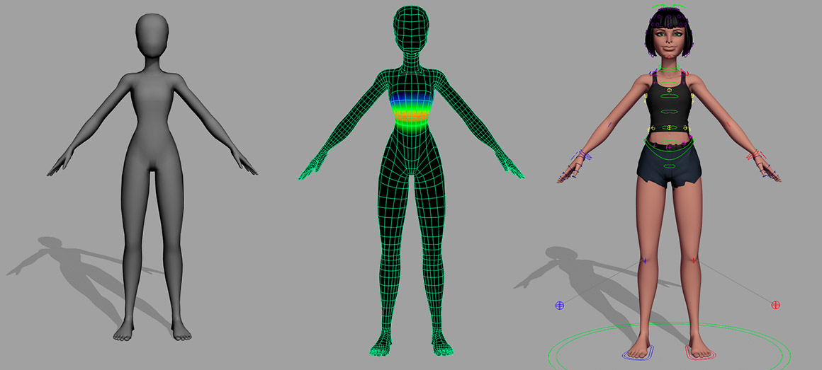 Skinning for 3D modeling in UE