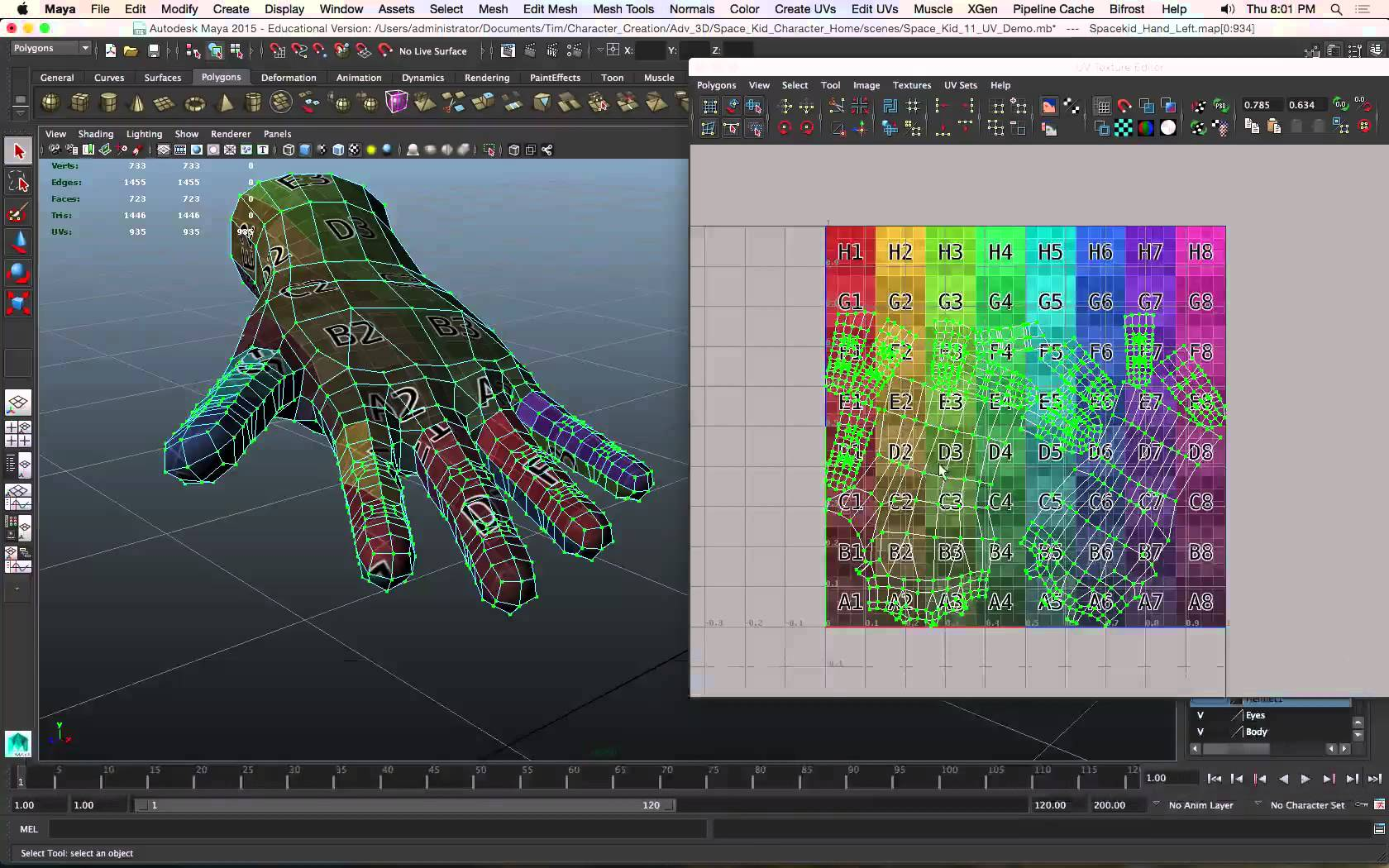 Game 3D Modeling: UV Mapping