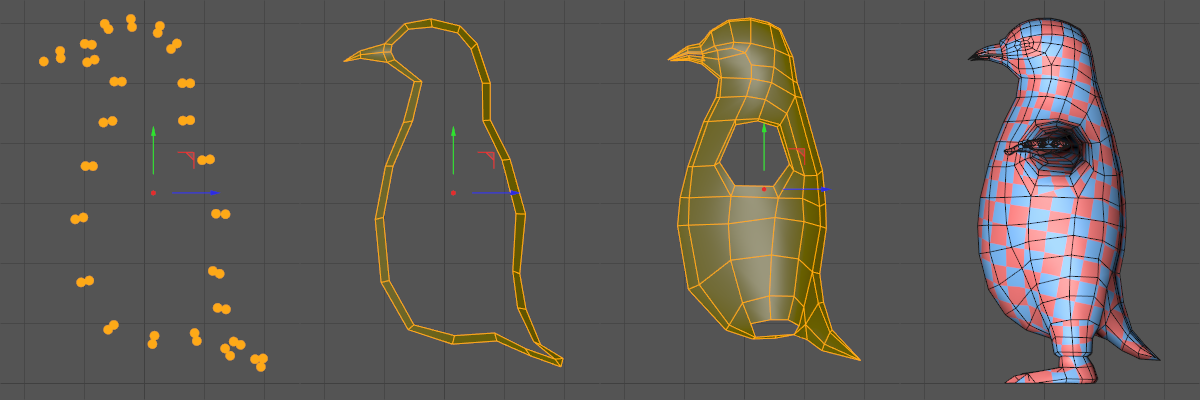 process of creating 3D model