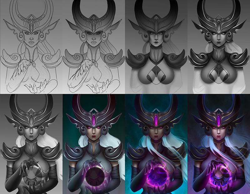 concept art creation steps