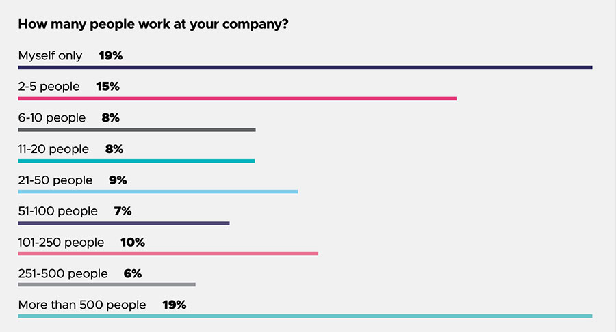 How many people work in your company