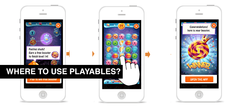 Where to use playables