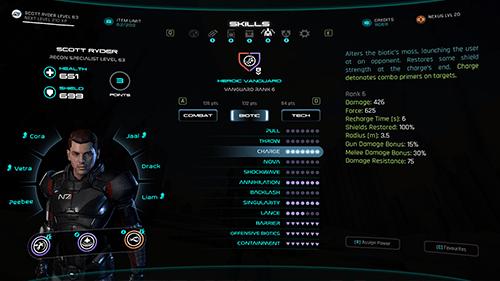 Mass Effect Andromeda UI