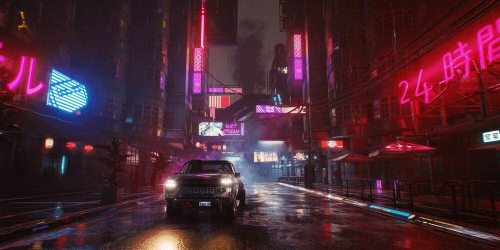 3d environment Cyberpunk 2077